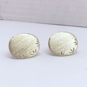 Other - Sterling silver brushed finish cufflinks set #177